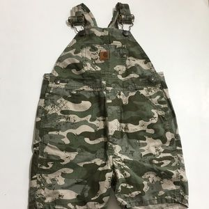Carhartt | boy's 3T shorts overall bib camouflage